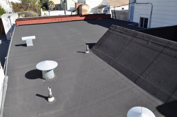 Moire Black Modified Bitumen Membrane Roof