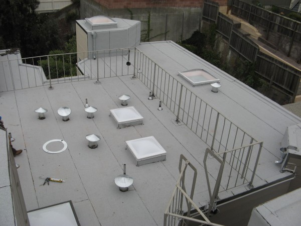 White Modified Bitumen Membrane Roof